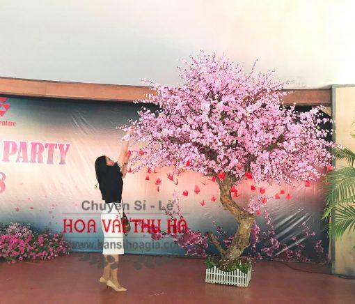Cây hoa đào giả trang trí sự kiện